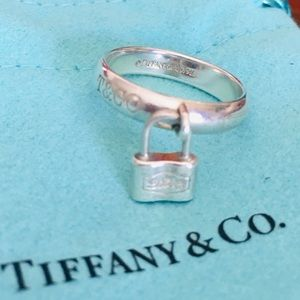Authentic Tiffany & Co.  Silver lock ring